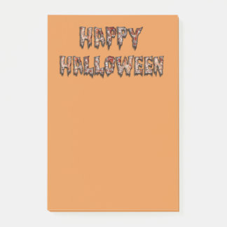 Happy Halloween Novelty Orange Post-it Notes