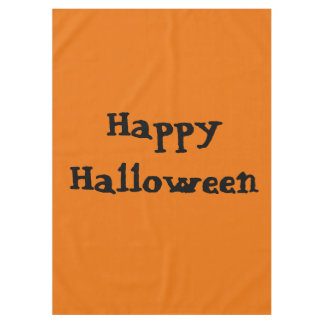 Happy Halloween Orange Black Trendy Standard Cool Tablecloth