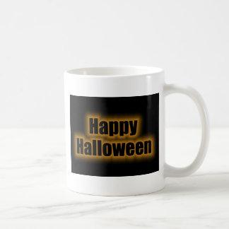 Happy Halloween Orange Glow Mugs