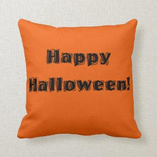 Happy Halloween! orange pillow