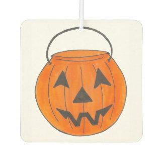 Happy Halloween Orange Pumpkin Jack o' Lantern Car Air Freshener