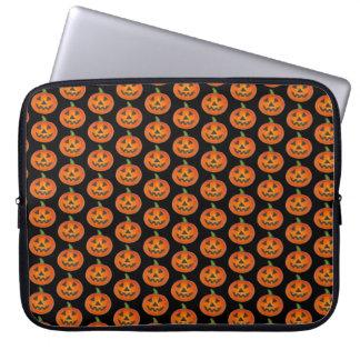 Happy Halloween Orange Pumpkin Jack o' Lantern Laptop Sleeve