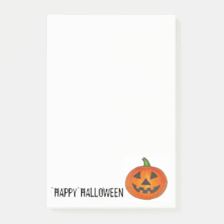 Happy Halloween Orange Pumpkin Jack o' Lantern Post-it Notes