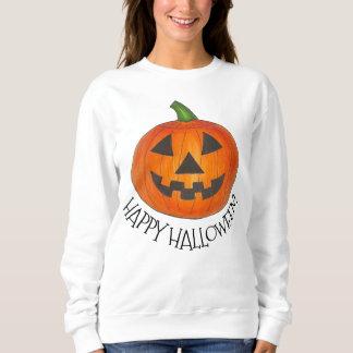 Happy Halloween Orange Pumpkin Jack o' Lantern Sweatshirt