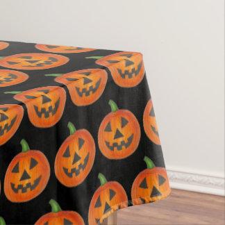 Happy Halloween Orange Pumpkin Jack o' Lantern Tablecloth
