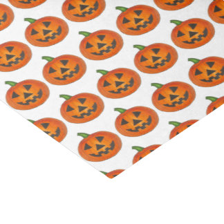 Happy Halloween Orange Pumpkin Jack o' Lantern Tissue Paper