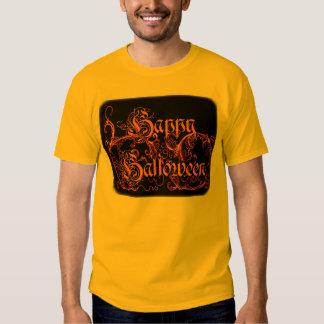 Happy Halloween Orange Scrolls T-shirt