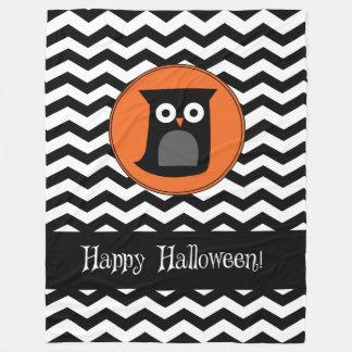 Happy Halloween Owl Fleece Blanket