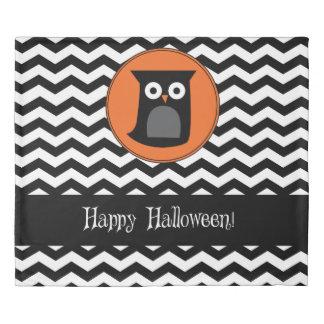 Happy Halloween Owl (Reverse) Black Cat Duvet Cover
