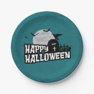 Happy Halloween Paper Plate