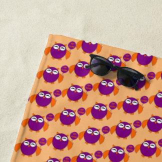 Happy Halloween Party Owl Beach Towel