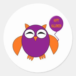 Happy Halloween Party Owl Stickers