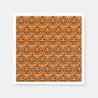 Happy Halloween Party - Pumpkin Napkins Paper Napkins