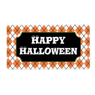 Happy Halloween Party Trick or Treat Labels
