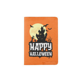 Happy Halloween Passport Holder