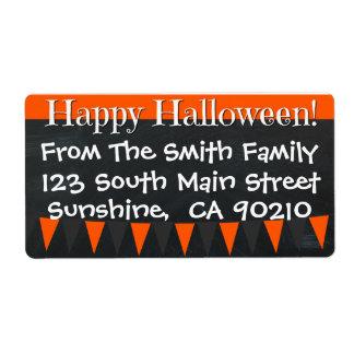 Happy Halloween Personalized Chalkboard Labels