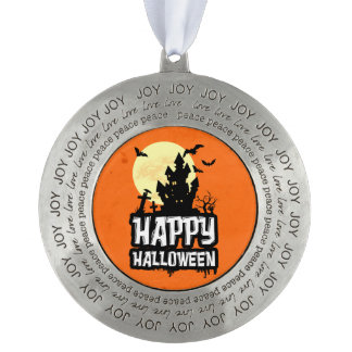 Happy Halloween Pewter Ornament