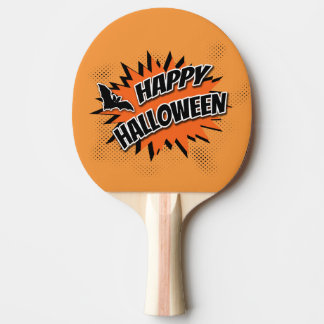 Happy Halloween Ping Pong Paddle
