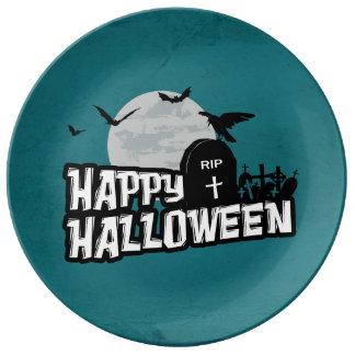 Happy Halloween Plate