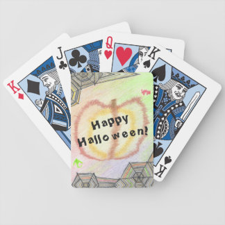 Happy Halloween! Playful Colorful Bicycle Cards