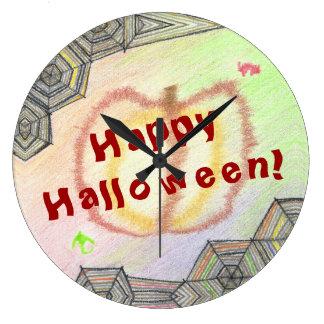Happy Halloween! Playful Colorful Clock