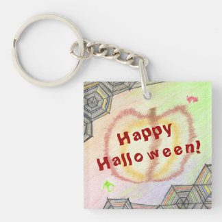 Happy Halloween! Playful Colorful Keychain
