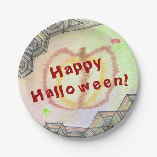 Happy Halloween! Playful Colorful Paper Plates