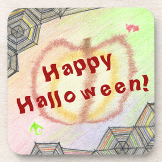 Happy Halloween! Playful Colorful Plastic Coasters