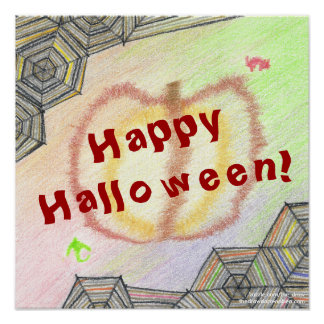 Happy Halloween! Playful Colorful Poster