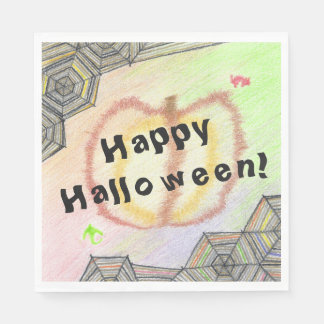 Happy Halloween! Playful Colorful Set of Napkins Disposable Napkin