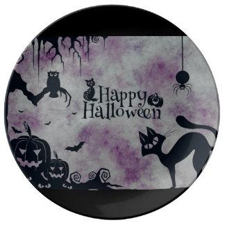 Happy Halloween Porcelain Plates