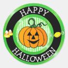 Happy Halloween Pumpkin & Candy Sticker