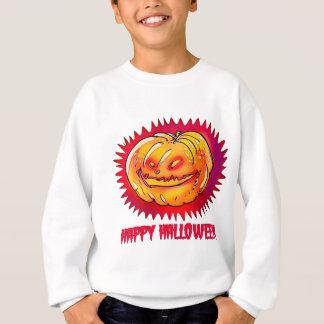 happy halloween pumpkin cartoon style with text sweatshirt