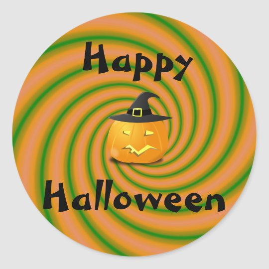 Happy Halloween Pumpkin Classic Round Sticker
