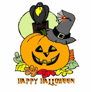 Happy Halloween - Pumpkin, Crow Photo Sculpture