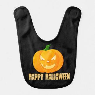 Happy Halloween pumpkin cute baby bib