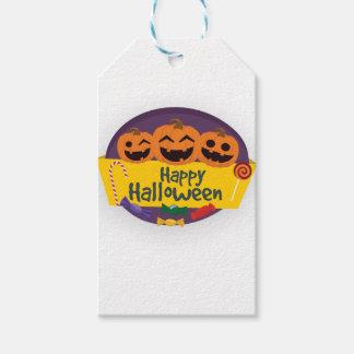 Happy Halloween Pumpkin Gift Tags