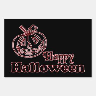 Happy Halloween Pumpkin Grin Sign