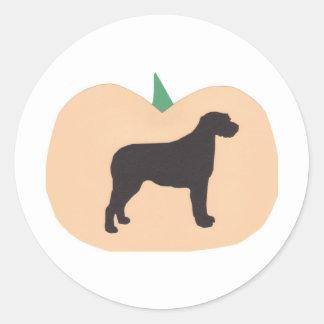 Happy Halloween Pumpkin Irish Wolfhound Classic Round Sticker