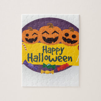 Happy Halloween Pumpkin Jigsaw Puzzle