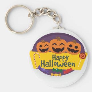Happy Halloween Pumpkin Keychain