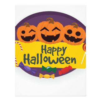Happy Halloween Pumpkin Letterhead