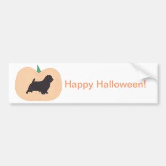 Happy Halloween Pumpkin Norfolk Terrier Bumper Sticker