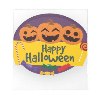 Happy Halloween Pumpkin Notepad