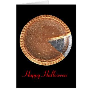 Happy Halloween Pumpkin Pie Romantic Card