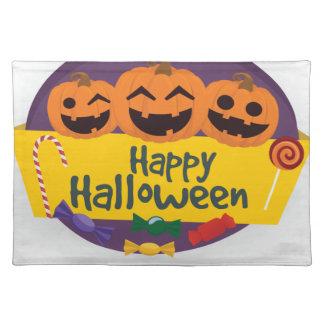 Happy Halloween Pumpkin Placemat