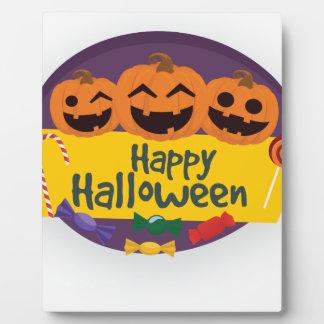 Happy Halloween Pumpkin Plaque