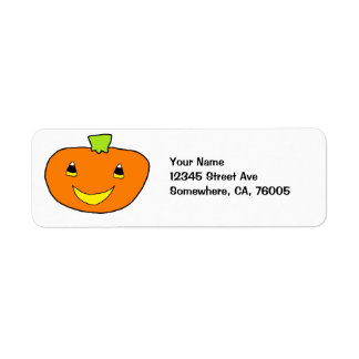 Happy Halloween Pumpkin Return Address Label