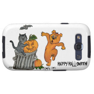 Happy Halloween! Pumpkin SPI that asked 5 Cat dog Galaxy S3 Covers