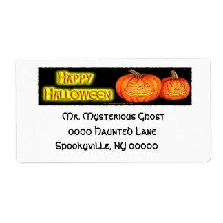 Happy Halloween Pumpkins Shipping Label